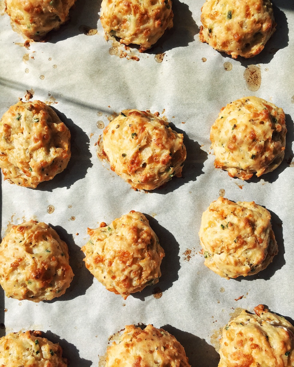 Cheddar and Chive Drop Biscuits