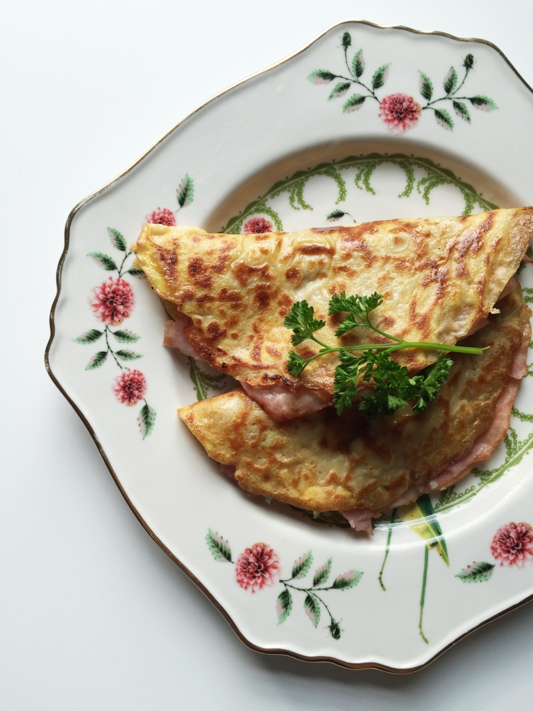 Ham and Gruyere Crepes
