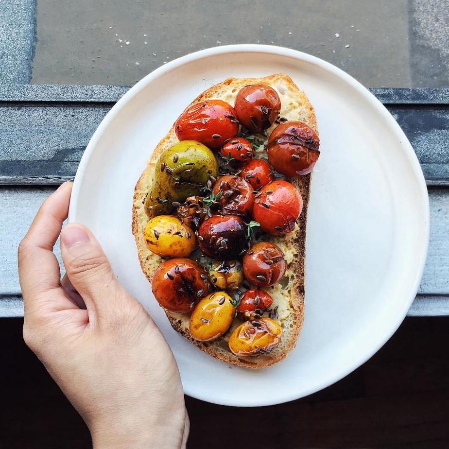 Blistered Tomato Toast